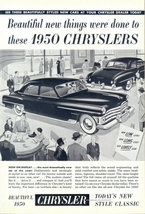 1950 Chrysler dealer showroom graphic art print ad - $10.00