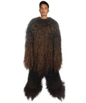 Adult Men's Long Hairy Warrior Ape Military Leader Resistance Fighter Co... - $122.85