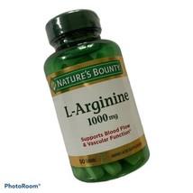 Nature's Bounty L-Arginine for Blood Flow & Vascular Function 1000 mg. 50 Tablet - $11.73