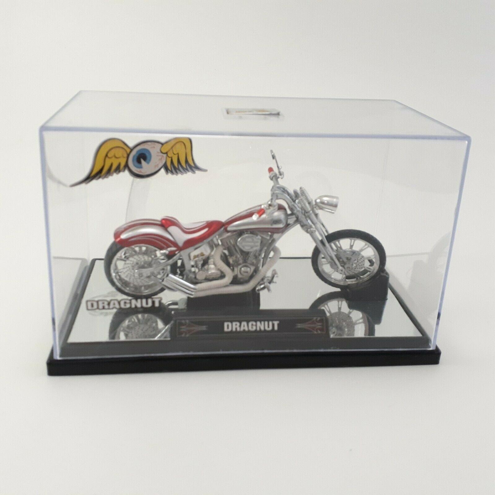 "Von Dutch Kustom (1:18) ""Dragnut"" Red Motorcycle Diecast, by Jada Toys / Loose"