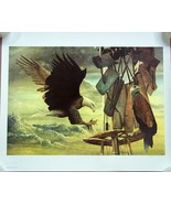 Chester Fields Print Two Eagles 20in x 24in Sig... - $188.16