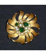 Gold Pearl and Rhinestone Pin - $5.00