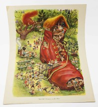 RESERVED Feodor Rojankovsky 1945 The Old Woman that Live in a Shoe Mother Goose  - $26.90