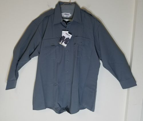ELBECO CLASSIC TEX-TROP MEN/WOMEN POLICE/SECURITY ASH GRAY LONG-SLEEVE SHIRT NWT