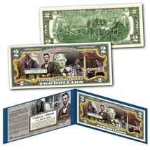 ABRAHAM LINCOLN American Civil War Commander-in-Chief Genuine US $2 Bill... - $13.06