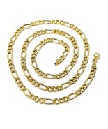 "18K GOLD FIGARO GOURMETTE CHAIN 4 MM WIDTH, 20"", ALTERNATE 3+1 NECKLACE  - $1,249.00"