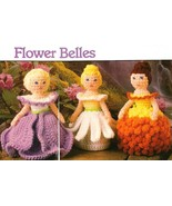 Y513 Crochet PATTERN ONLY 3 Flower Bell Dolls with Ringer Patterns - $8.45
