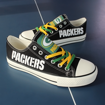 packers shoes women converse style packers sneakers green bay fans birthday gift - $56.00