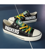 packers shoes women converse style packers sneakers green bay fans birth... - $80.00
