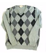 Michael Kors Men's L Gray Cotton Argyle Sweater - $17.99