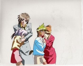 "Neo Ranga ""Minami Shimabara, Joel, & Others"" Anime Cel"
