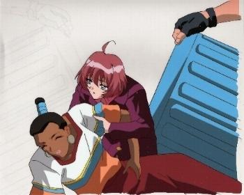 "Neo Ranga ""Ushio & Unknown Character"" Anime Cel * NEORANGA"