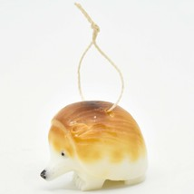 Hand Carved Tagua Nut Carving Hedgehog Hanging Ornament Made in Ecuador image 2