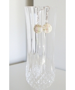 Irridescent White Mother of Pearl Earrings - $8.50