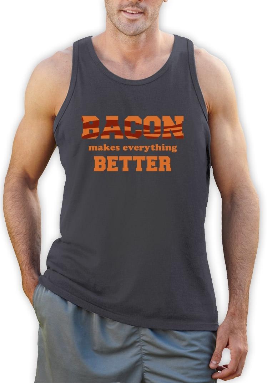 Bacon Makes Everything Better Singlet Bacon Lovers Crisp Humor Stripes Vest