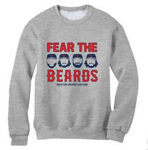 Beard Nation Fear The Beard 2013 Sweatshirt Sox Boston championship Worl... - $26.99+