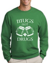 Mugs Not drugs Sweatshirt For St.Patricks Day Pugs Patty's Party Paddy's... - $26.99+