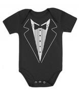 Wedding Tuxedo Onesie Baby OnePiece Romper Clot... - $15.29