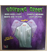 Animated Hovering Ghost with Glowing Light Up Eyes Halloween Prop Tekky ... - £74.07 GBP