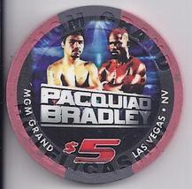$5 Mgm Grand Las Vegas Pacquiao Vs Bradley  June 9 2012 Boxing Chip - $14.95