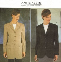 Misses Vogue Anne Klein American Designer Loose Fit Jacket Sew Pattern 1... - $14.99