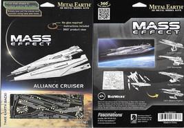 Mass Effect Game Alliance Cruiser Metal Earth 3-D Laser Cut Steel Model ... - $10.65