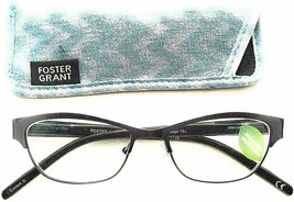 +1.00 Foster Grant  Metal Reading Glasses w case Sage Turquoise Spring Hinges - $11.26