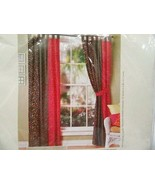Pier 1 Imports Floral Patchwork 4-PC 80 x 84 Tab-Top Drapery Panels and ... - $53.00
