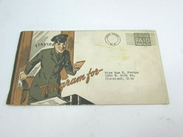 1930s Telegram Auto Oil Advertising Mailing New York OH Gulf 31671 - $29.69