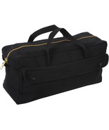 Black Mechanics Brass Zipper Heavy Duty Jumbo Tool Bag - $23.99