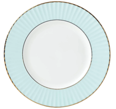 Lenox Pleated Colors Aqua Blue Salad Plates   Set of 4 - $69.30