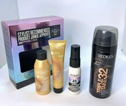 Redken Platinum 4pcs Set: Shampoo, Conditioner,Triple Take 32, Benefit T... - $16.82