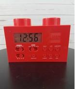 LEGO Red Portable Digital Clock AM/FM Radio W/Night Light LG11000 Year 2009 - $44.99