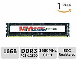 MemoryMasters 16GB DDR3 1600MHz PC3-12800 Registered ECC 1.5V CL11 2Rx4 Dual Ran - $78.20