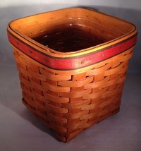 Longaberger Father's Day Tall Tissue Basket w/Protector - $34.30