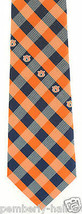 Auburn Tigers Checks Mens Necktie College University Logo Alumni Gift Neck Tie  - $31.68