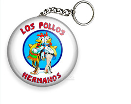 Los Pollos Hermanos Breaking Bad Funny Quote Keychain Key Fob Ring Chain Hd Gift - $10.69+