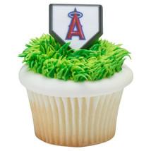 ANAHEIM ANGELS Baseball CupCake Cake Topper 12 18 24 Decoration Birthday... - $7.87+