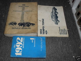 1992 FORD TEMPO & Mercury Topaz Service Shop Repair Manual Set Factory OEM - $9.50