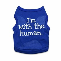 Funny Dog Clothes Tank Top Vest Puppy Phrase Blue Chihuahua Kitten Extra... - $12.56