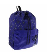 Disney Parks Haunted Mansion Wallpaper Purple Drawstring Backpack with pocket - $44.54