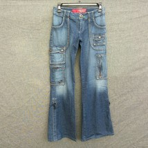 Vtg Guess Jeans Cargo Pockets Flare Leg Women's Jeans Size  26 S Stretch - $34.99