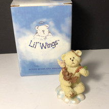 BOYDS BEARS FIGURINE Lil Wings angel bunny rabbit carrot babybuns baby buns box - $16.78