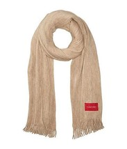 Calvin Klein women's Basic Soft Wrap & Scarf in one,Color:Almond - $16.83