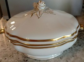 Raynaud MARIE ANTOINETTE GOLD Round Covered Veg... - $466.57