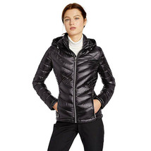Calvin Klein Women's Short Packable Down Jacket with Hood Zip Front, Bla... - $98.99