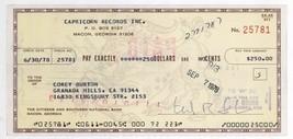 RARE 1978 Actor Corey Burton SIGNED Cancelled Company Check! C02 - $39.99