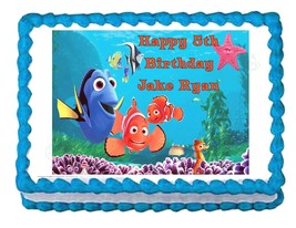 FINDING NEMO party decoration edible cake image cake topper frosting sheet - $7.80