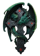 Ebros Celtic Knotwork Altar Drake Dragon Crucifix Wall Mount Sculpture Plaque Fi - $32.66