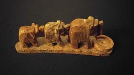 Stone Incense Burner Elephants Design For Burning Sticks & Cones ~ India - $8.00